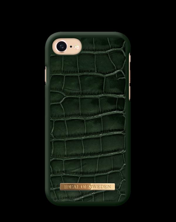 IDEAL OF SWEDEN Θήκη Fashion Saffiano iPhone 8/7/6/6S Evergreen Croco IDFCSADC19-I7-83
