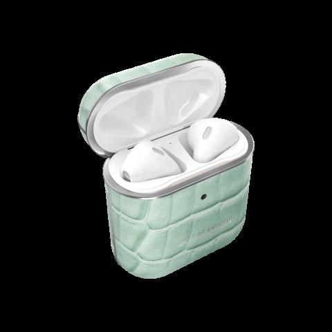 IDEAL OF SWEDEN θήκη για Airpods για 1st & 2nd Generation Mint Croco IDAPCSS21-261