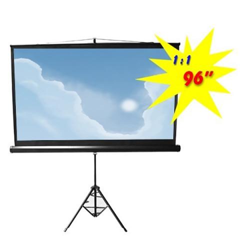 BRATECK Οθόνη Προβολής με Τρίποδα 1.72x1.72 1:1 PSDB96