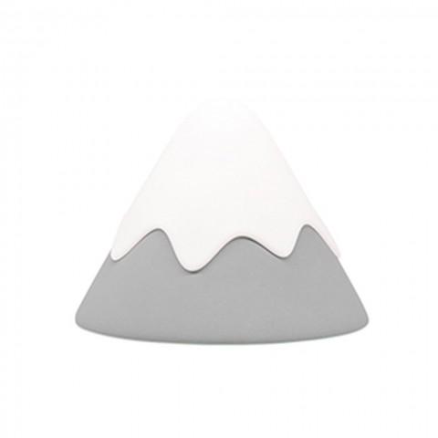 Allocacoc® Snow Mountain |Grey Lamp| Φωτάκι νυκτός χιονισμένο βουναλάκι (γκρι)
