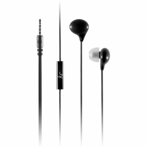 KITSOUND Dublin Wired Earphones - Travel Exclusive Μαύρο KSDBLNBK
