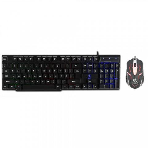 Rebeltec Πληκτρολόγιο + Ποντίκι Gaming Rebeltec OPPRESSOR Μαύρο - Ενσύρματα