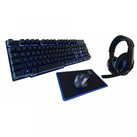 Rebeltec Ενσύρματο Gaming Σετ Πληκτρολόγιο, Ποντίκι, Mousepad και Ακουστικά με Μικρόφωνο  Sherman (AKKSGKLAREB00012 )