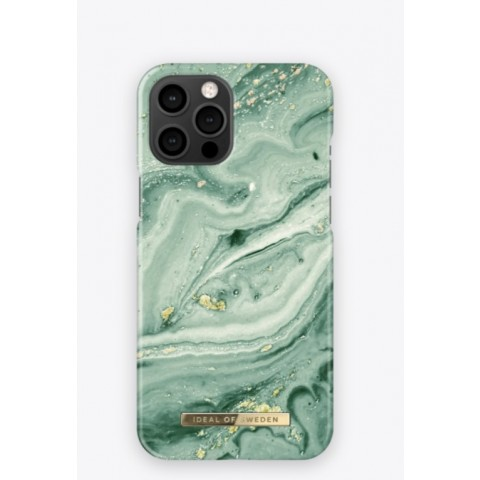 IDEAL OF SWEDEN Fashion Case SS21 iPhone 12/12 Pro Mint Swirl Marble IDFCSS21-I2061-258