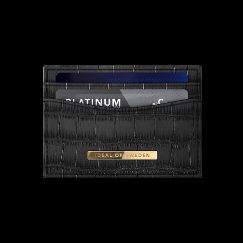 IDEAL OF SWEDEN Credit Card Holder Black Croco IDCH-CAP-01