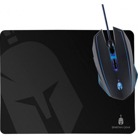 Spartan Gear Gaming Mouse Ενσύρματο Ποντίκι Phalanx Wired + Mousepad
