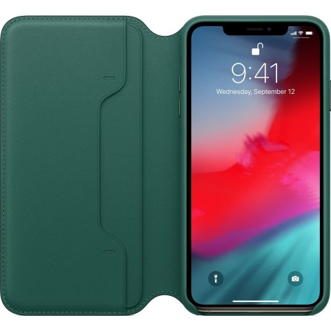Apple Leather Folio Forest Green (iPhone XS Max) MRX42ZM/A