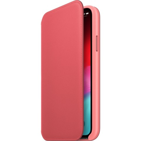 Apple Leather Folio Peony Pink (iPhone XS Max) MRX62ZM/A