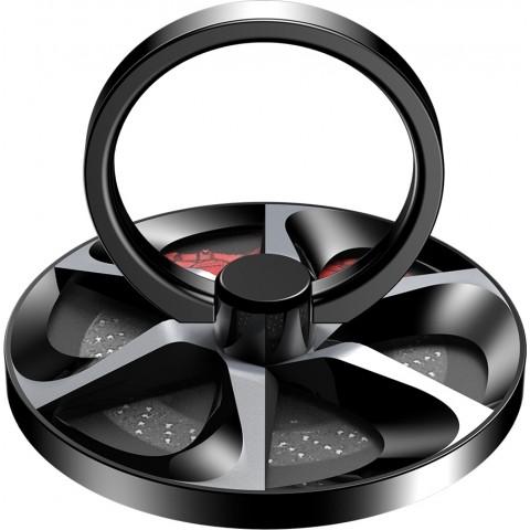 Baseus Wheel Ring Holder - Δαχτυλίδι Συγκράτησης Κινητού / Tablet - Βάση Στήριξης - Black / Silver