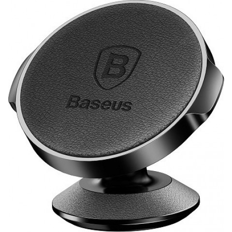 Baseus Small Ears Series Leather Car Mount Holder black (SUER-F01)