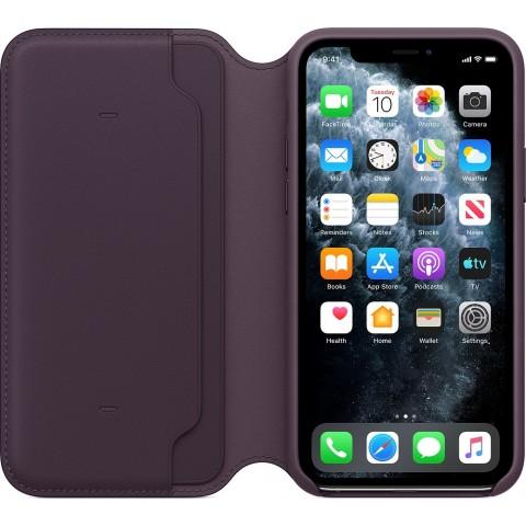 Apple Leather Folio Case για το iPhone 11 Pro Aubergine MX072ZM/A
