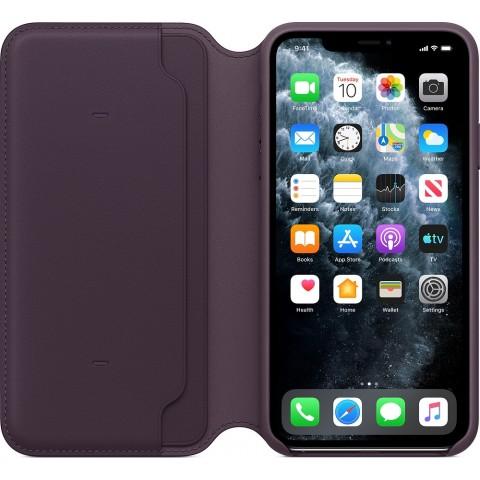 Apple Leather Folio Case για το iPhone 11 Pro Max Aubergine MX092ZM/A