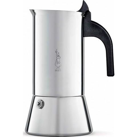 Bialetti Venus inox induction Ιταλικό μπρίκι espresso ανοξείδωτο 4 Φλιτζάνια Ιnox black