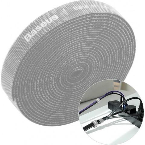 Baseus Rainbow Circle Velcro Straps Δεματικά Καλωδίων Γκρι 3m 1τμχ