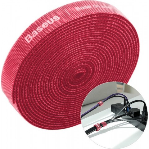 Baseus Δεματικά Καλωδίων 3m 1τμχ - Baseus - Κόκκινο - Οργάνωση Καλωδίων ACMGT-F09