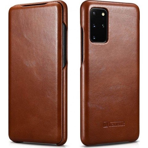 iCarer Samsung S20 Plus Case Curved Edge Vintage Series Brown