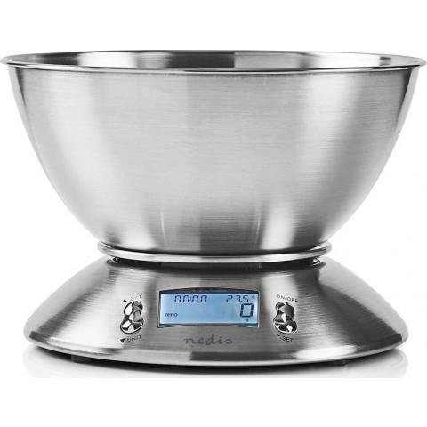 Nedis Ψηφιακή Ζυγαριά Κουζίνας 5kg KASC111SI