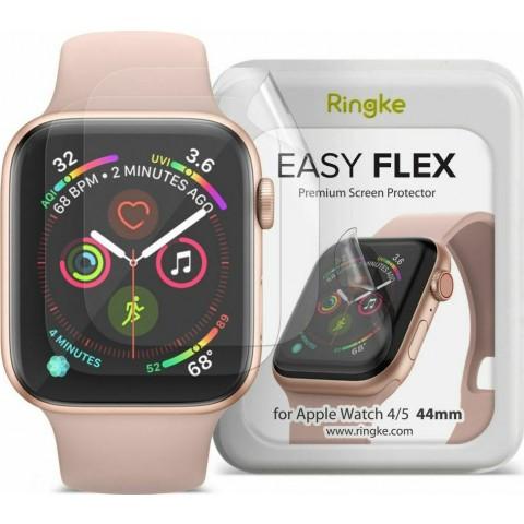 Ringke Apple Watch 4 / 5 / 6 / SE 44mm Easy Flex Screen Protector, Προστασία Οθόνης, Σετ των 3