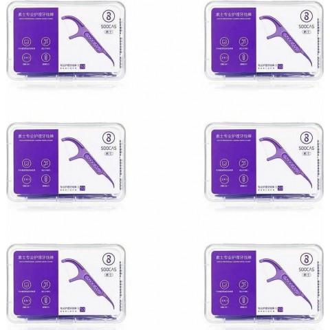 Xiaomi Soocas Οδοντικό Νήμα με Λαβή 300τμχ Professional Dental Flosser Ergonomic Design FDA Testing Food Grade (D1-6)