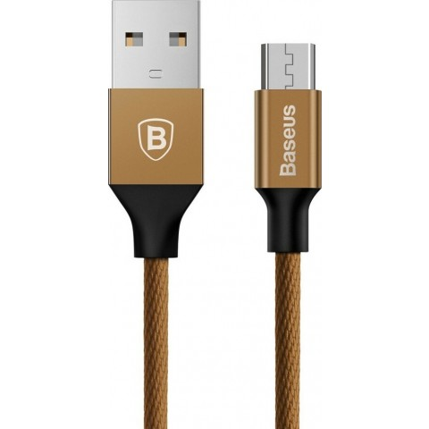 Baseus Braided USB 2.0 to micro USB Cable Καφέ 1,5m CAMYW-B12
