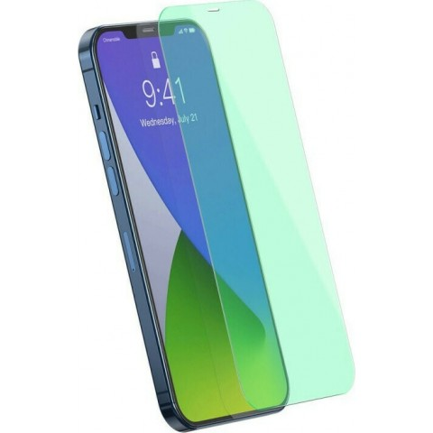 Baseus 2x Blue-Light Filter Tempered Glass (iPhone 12 Pro Max)