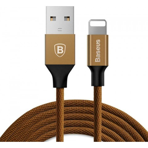 Baseus Yiven Braided USB to Lightning Cable Καφέ 1.8m (CALYW-A12)