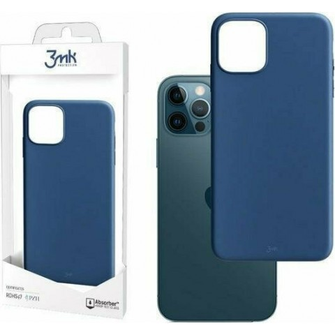 3MK θήκη κινητού Matt Case Back Cover Blueberry (iPhone 12 / 12 Pro)