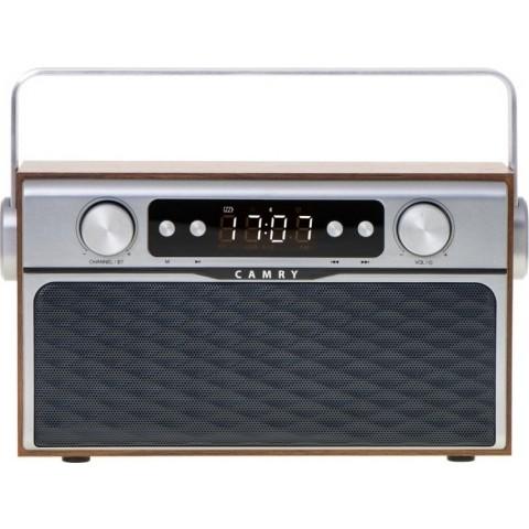 Camry Επιτραπέζιο Ραδιόφωνο Επαναφορτιζόμενο Retro με Bluetooth και USB Καφέ CR1183