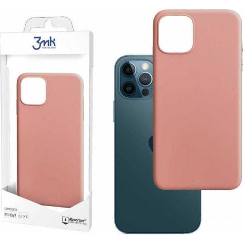 3MK θήκη κινητού Matt Back Cover Σιλικόνης Ροζ (iPhone 12 / 12 Pro)