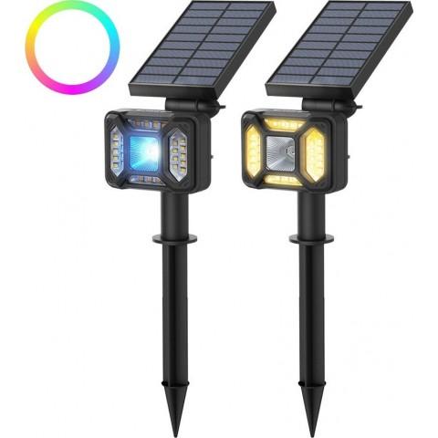 Blitzwolf Ηλιακό Φωτιστικό External LED Solar Lamp with Dusk Sensor 1800mAh RGB (BW-OLT5)