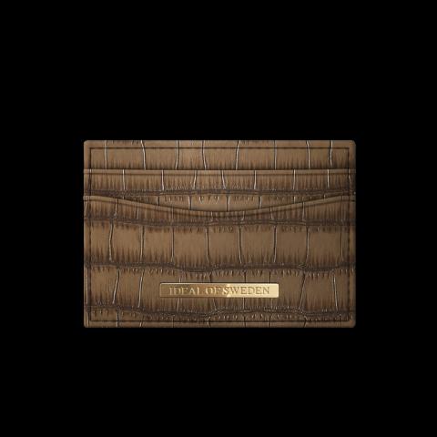 IDEAL OF SWEDEN Credit Card Holder Brown Croco IDCH-CAP-03