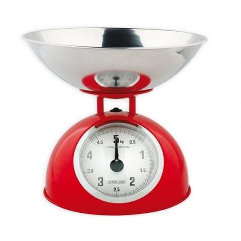Nedis Αναλογική Ζυγαριά Κουζίνας 5kg KASC110RD