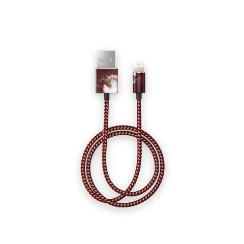 iDEAL Fashion Cable Lightning 1m Golden Burgundy Marble IDFCL-149