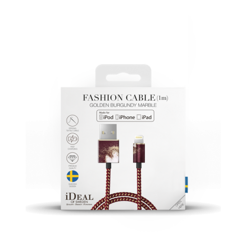 IDEAL OF SWEDEN Fashion Cable Lightning 1m Golden Burgundy Marble IDFCL-149