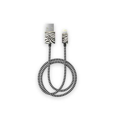 iDEAL Fashion Cable Lightning 1m Zafari Zebra IDFCL-153