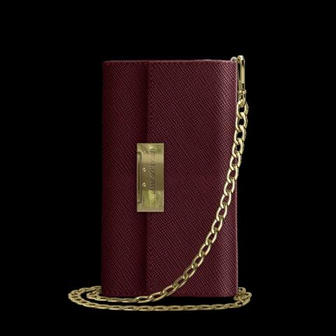 IDEAL OF SWEDEN Θήκη Wallet Kensington Crossbody Clutch iPhone 8/7/6/6s Burgundy IDKCC-I7-157