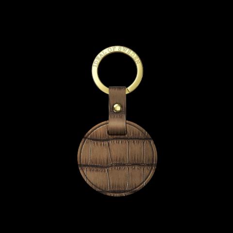 IDEAL Keychain Round Capri Brown IDKC-CAP-R-03