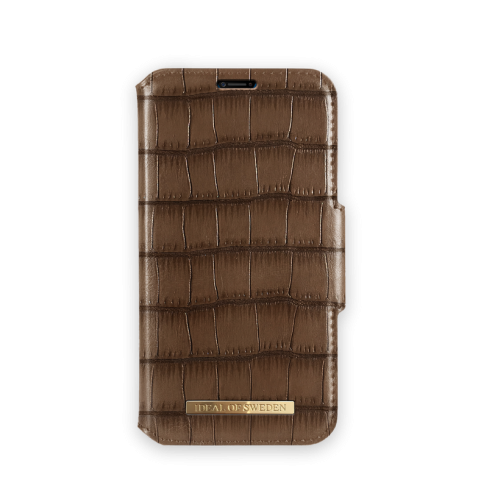 IDEAL OF SWEDEN Θήκη iPhone XS MAX Capri Wallet Brown Croco IDFW-I1865-CAP-03
