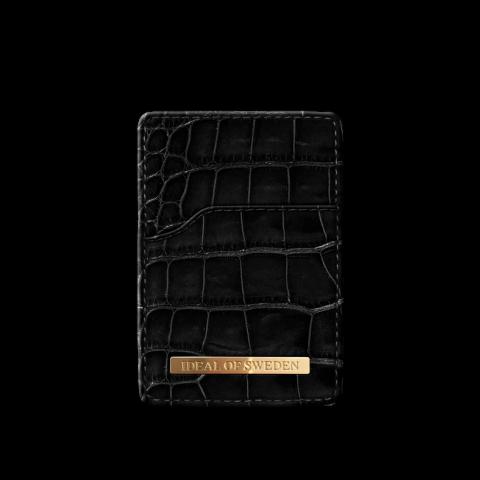 iDEAL Magnetic Card Holder Noir Croco IDMCH-DC-01