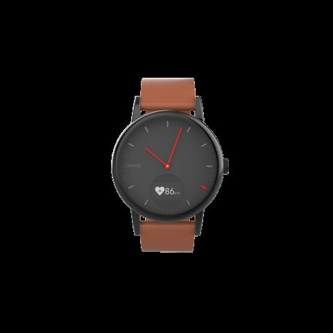 Οaxis TIMEPIECE Smartwatch Αναλογικό με Heart Rate Mαύρο 41mm TP4101SA-BK01