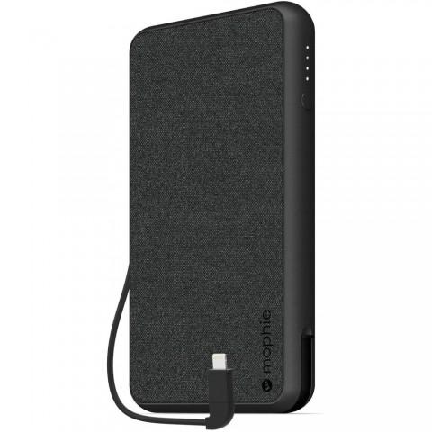 Mophie Powerstation Plus XL 10k Powerbank με καλώδιο Micro-USB/Lightning (μαύρο)