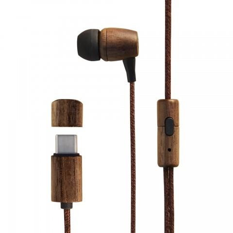 ENERGY SISTEM Ενσύρματα Ακουστικά Eco Walnut Wood 45070