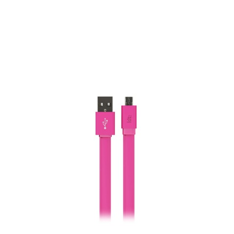 KIT: Fresh Καλώδιο Micro USB Data and Charge LED MFI Flat 1m Ροζ 8600USBFRESHPI