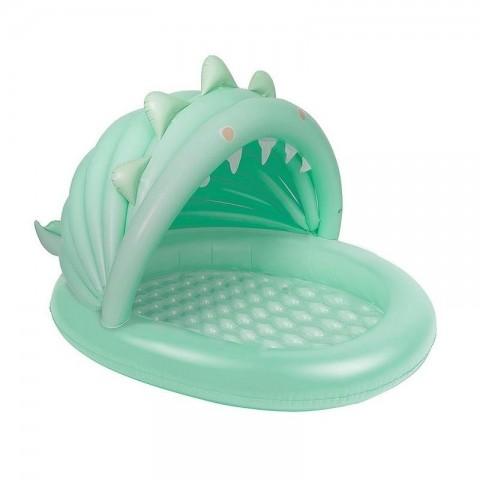 SunnylifeKiddy Pool Φουσκωτή Πισίνα - Surfing Dino - Ice Mint S1PPOOSE