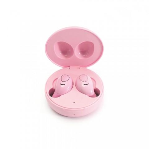 LEDWOOD ασύρματα ακουστικά i9 In-Ear Ρόζ LD-I9-TWS-PAST-PINK
