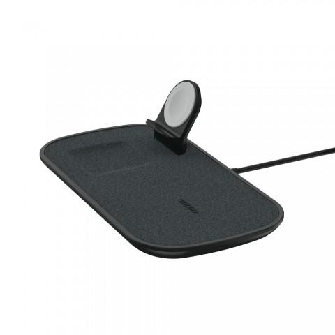 Mophie 3 in 1 Wireless Charging Pad Σταθμός φόρτισης για Quickcharge φόρτιση τριών συσκευών - μαύρος 409903655
