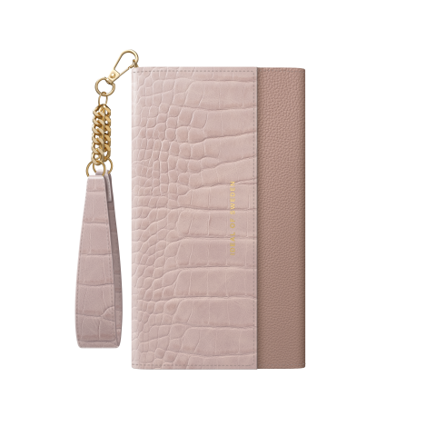 IDEAL OF SWEDEN για το iPhone 12/12 Pro Signature Clutch Misty Rose Croco IDSCSS20-I2061-211