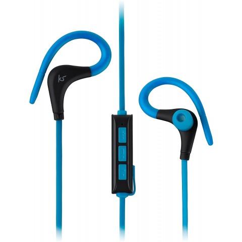 KITSOUND Ακουστικά Ψείρες RACE BT με Μικρόφωνο Μπλε KSRACBL