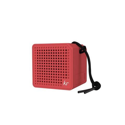EOL - KITSOUND Φορητό Ηχείο Bluetooth BOXI 1.0 MINI Κόκκινο KSBOXIMRD