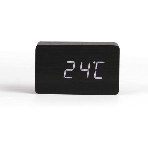 LIVOO ρολόι/ξυπνητήρι με ξύλινη επένδυση RV150BC